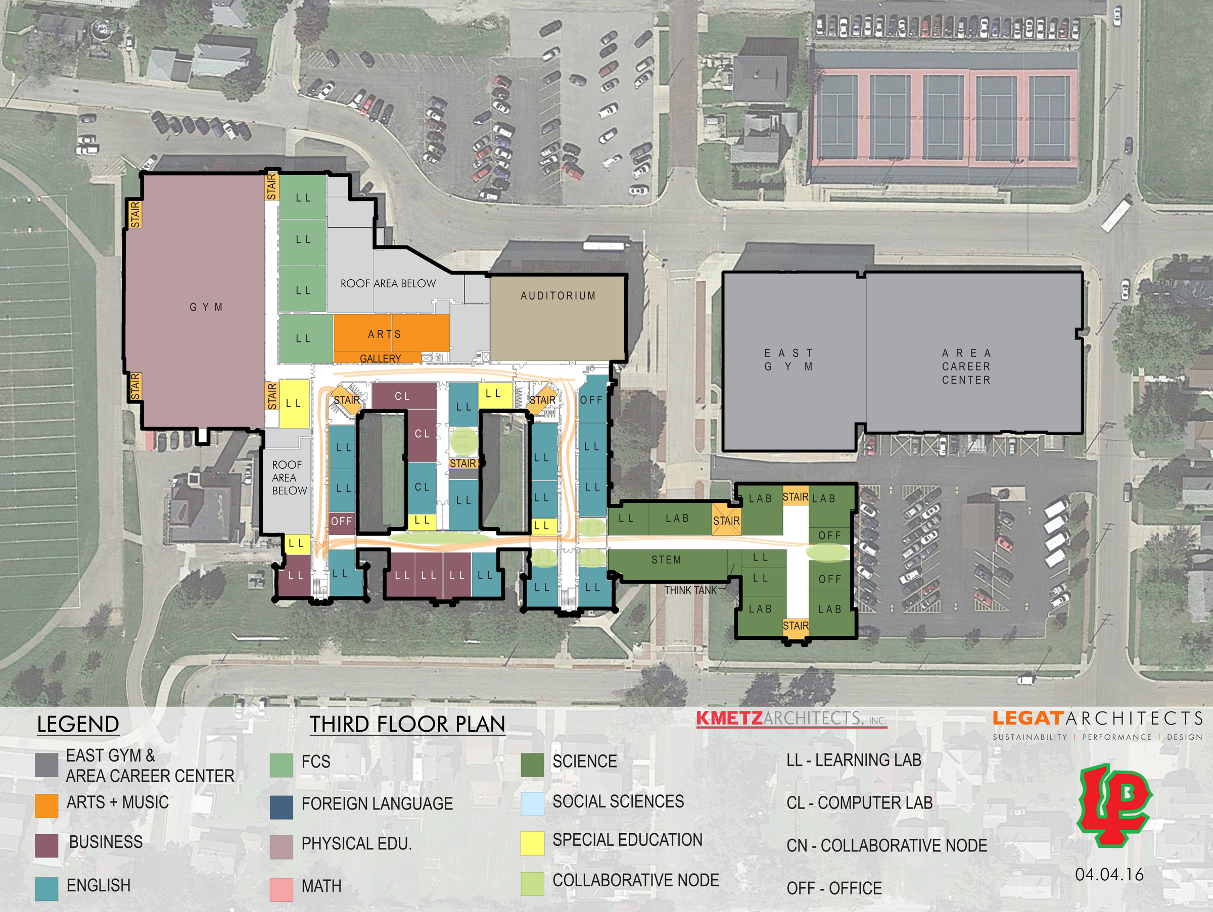 facility master plan lphs campus planning on the main floor there would be three notable changes along with the addition of the new stem wing on the southeast corner of the campus