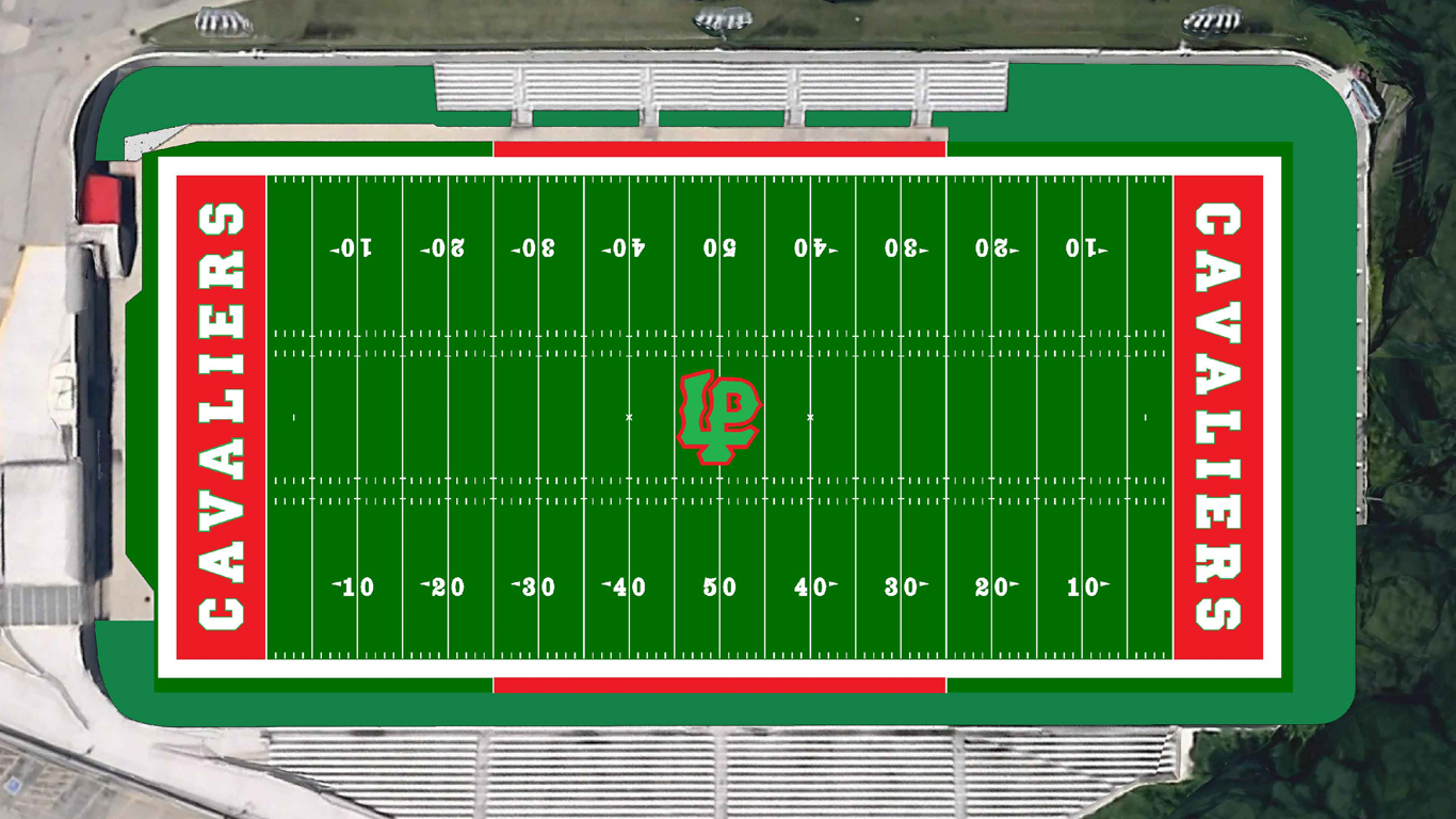 Rendering of the planned turf restoration to Howard Fellows Stadium.