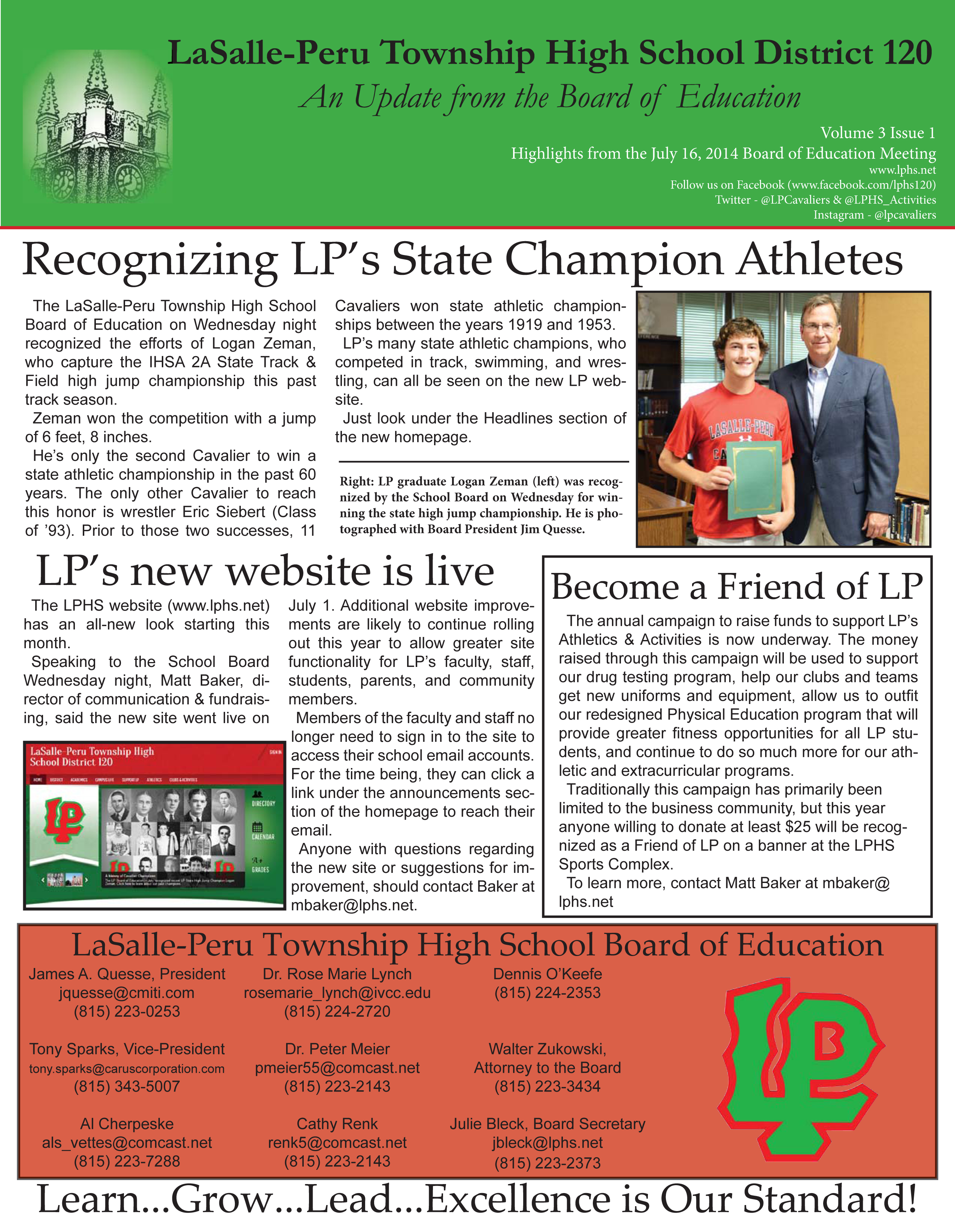 The July 2014 LPHS Board Update