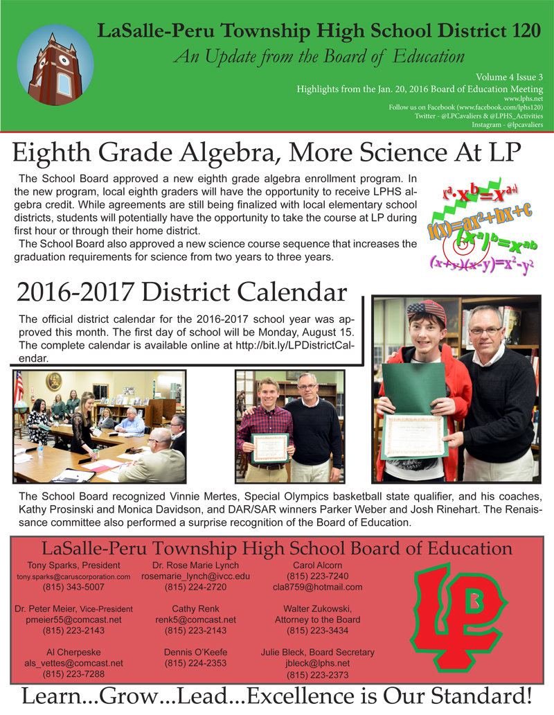 board update January 2016