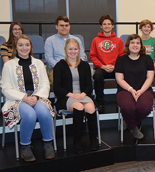 A group of students selected as Illinois State Scholars.
