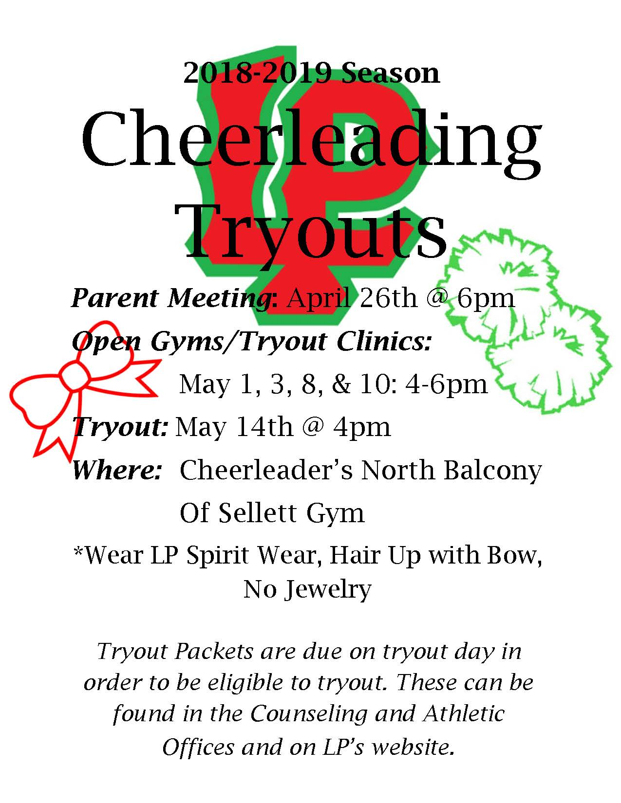 Become an LP Cheerleader