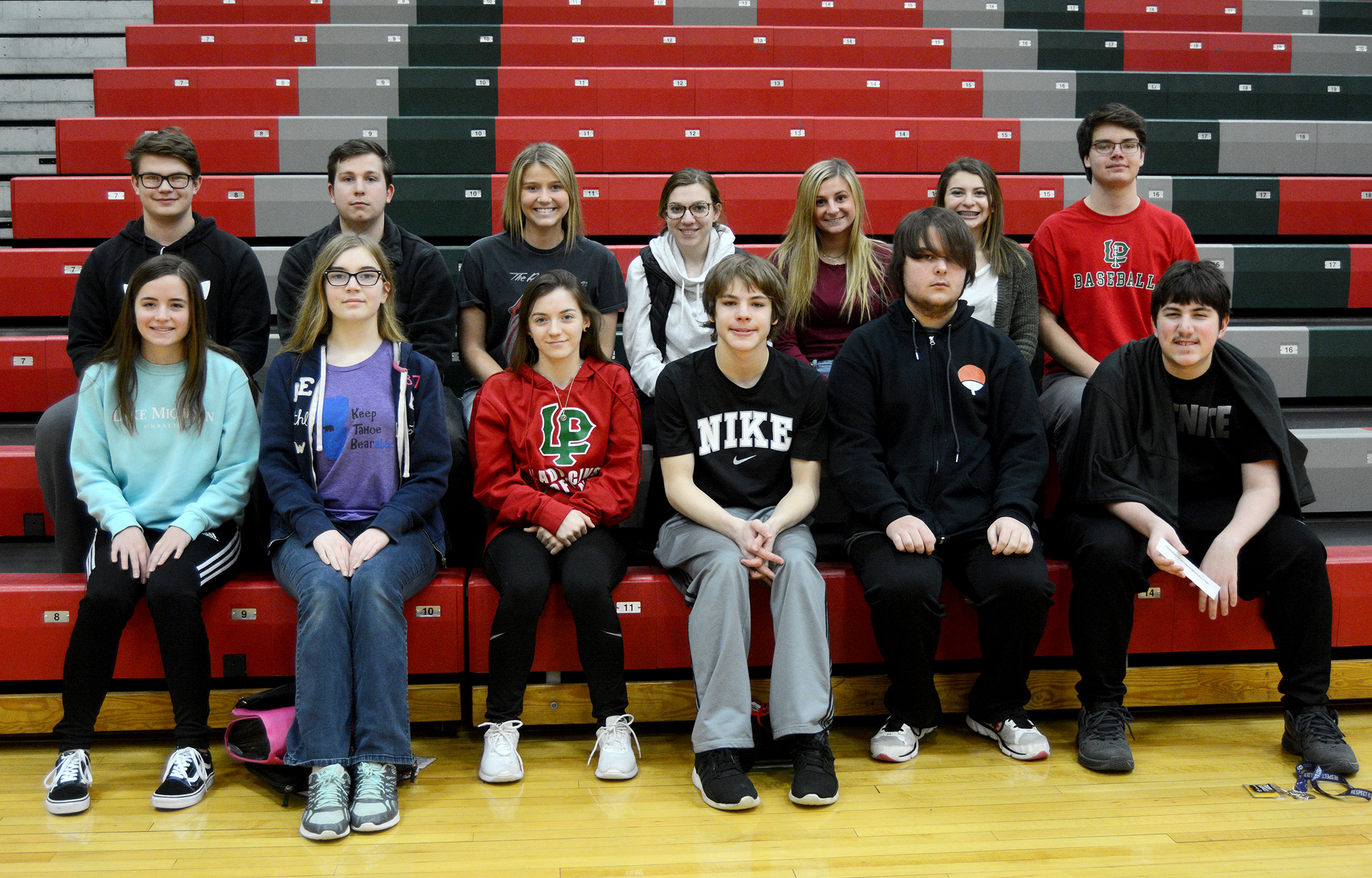 Image of juniors with 3 semester high scholarship honors.