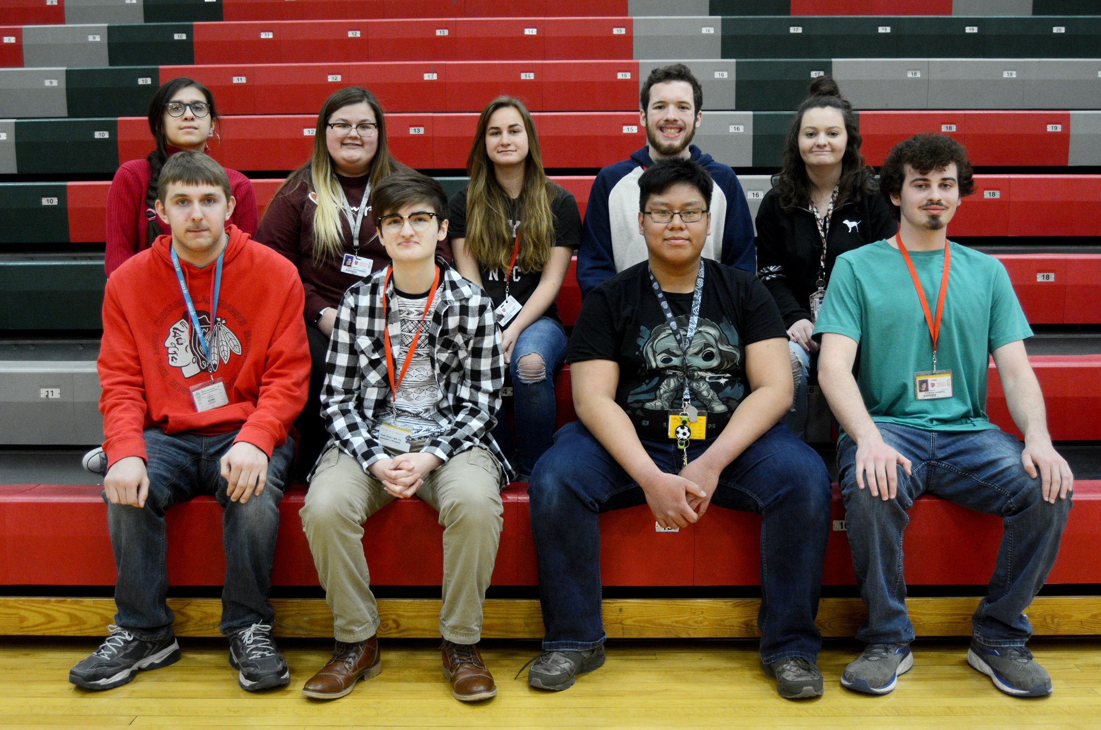 Image of seniors with 3 semester high scholarship honors.