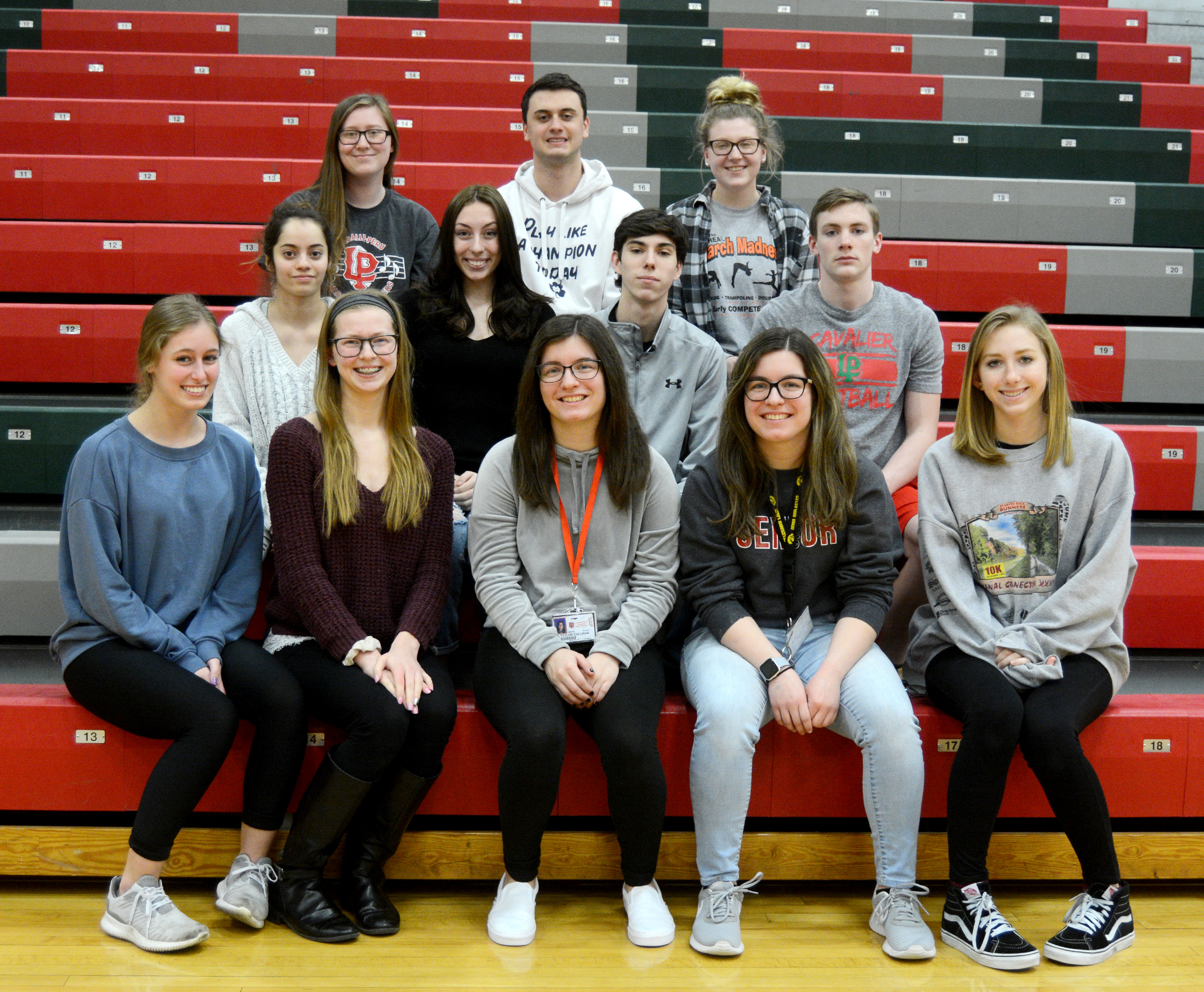 Image of seniors with 5 semester high scholarship honors.
