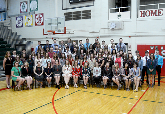 Photo of 2019 LPHS Honor Society Inductees.