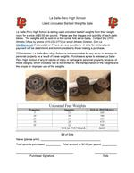 Image of District Weights Sale Flyer