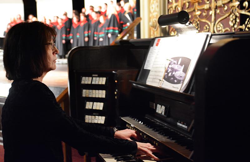 Organ during holiday performance
