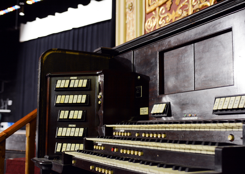 The Aeolian Organ in Matthiessen Memorial Auditorium.