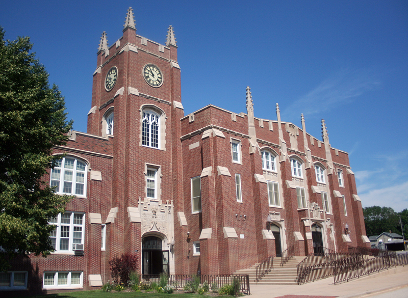 The exterior of LP High School