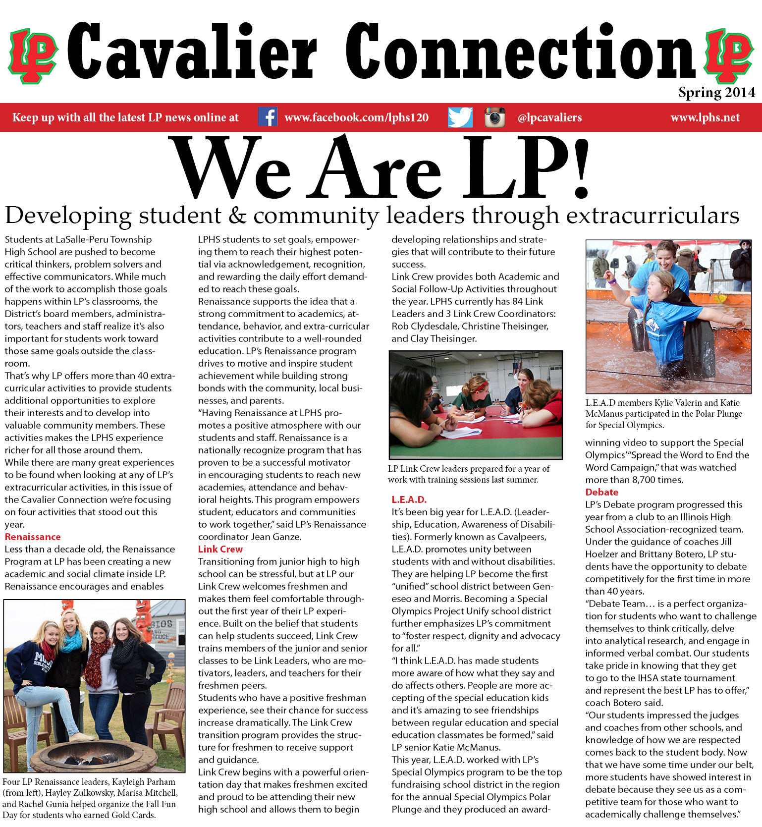 Cav Connection Spring 2014 page 1